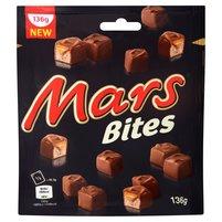 MARS Bites Batoniki z nugatowym nadzieniem oblane karmelem i czekoladą
