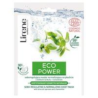 LIRENE Eco Power Seboregulująca maska normalizująca na płachcie
