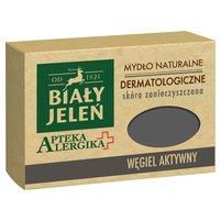 BIAŁY JELEŃ Apteka Alergika Mydło naturalne dermatologiczne węgiel aktywny