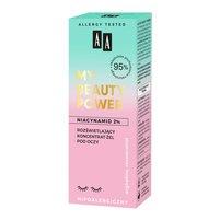 AA My Beauty Power Niacynamid 2% rozświetlający koncentrat-żel pod oczy