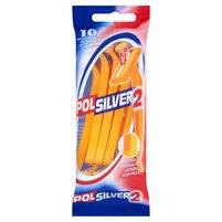 POLSILVER 2 Maszynki do golenia z podwójnym ostrzem