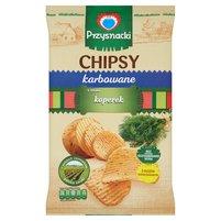 PRZYSNACKI Chipsy karbowane o smaku koperek