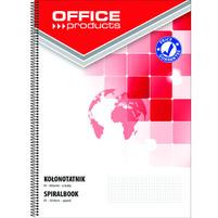 OFFICE PRODUCTS Kołonotatnik A4 80 kart. w kratkę boczna spirala