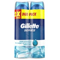 GILLETTE Series Pure & Sensitive Żel do golenia (2 szt.)