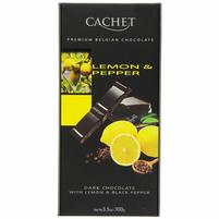CACHET Czekolada deserowa z cytryną i czarnym pieprzem