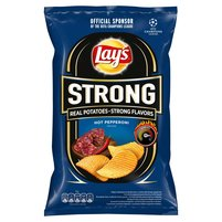 LAY'S Strong Chipsy ziemniaczane karbowane o smaku pikantnego pepperoni