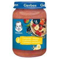 GERBER Owsianka Banany truskawki i maliny z płatkami owsianymi dla niemowląt po 8. m-cu