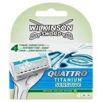 WILKINSON Sword Quattro Titanium Sensitive Wkłady do maszynki
