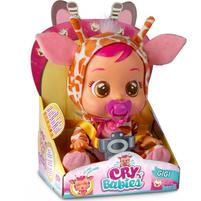 TM TOYS Cry Babies Płacząca lalka bobas Gigi Żyrafa 90194 (18m+)