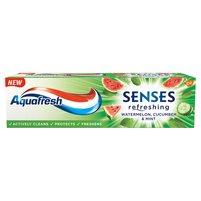 AQUAFRESH Senses Refreshing Watermelon Cucumber & Mint Pasta do zębów z fluorkiem
