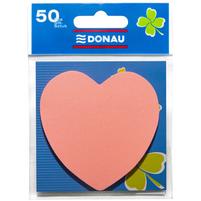DONAU Karteczki samoprzylepne w bloczku Serce jasnoróżowe