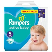 PAMPERS Active Baby Pieluszki Rozmiar 5 (11-16 kg)