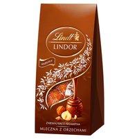 LINDT Lindor Praliny z czekolady mlecznej z orzechami laskowymi