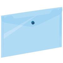 GRAND Koperta A5 na dokumenty z zatrzaskiem Transparentna niebieska