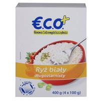 ECO+ Ryż biały długoziarnisty (4 torebki)