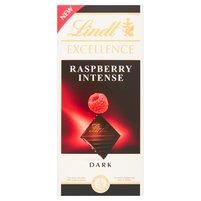 LINDT Excellence Raspberry Intense Czekolada ciemna z kawałkami malin