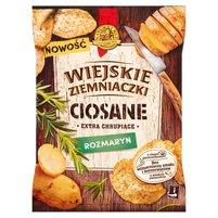 WIEJSKIE ZIEMNIACZKI Ciosane Chipsy ziemniaczane o smaku rozmarynu