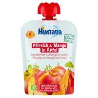 HUMANA 100% Organic Mus brzoskwinia & mango w jabłku po 8. m-cu
