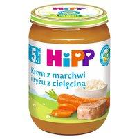 HiPP BIO Krem z marchwi i ryżu z cielęciną po 5. m-cu