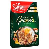 SANTE Gold Granola Pełnoziarniste płatki zbożowe z orzechami i miodem