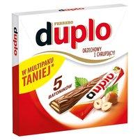 DUPLO Wafel z orzechowym nadzieniem pokryty mleczną czekoladą (5 sztuk)
