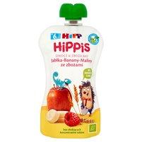 HiPP BIO HiPPiS Jabłka-Banany-Maliny ze zbożami Mus owocowy po 6. m-cu