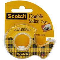 SCOTCH Double Sided Taśma biurowa dwustronna z dyspenserem (12mm x 6,3m)