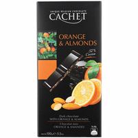 CACHET Czekolada deserowa z pomarańczą i migdałami