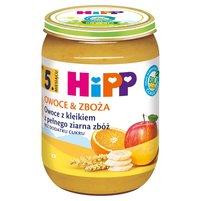 HiPP BIO Owoce & Zboża Owoce z kleikiem z pełnego ziarna zbóż po 5. miesiącu