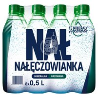NAŁĘCZOWIANKA Naturalna woda mineralna gazowana (8 x 500ml)