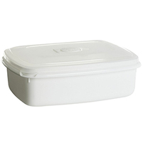 PLAST TEAM Micro Pojemnik do mikrofalówki 1,3L biały