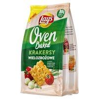 LAY'S Oven Baked Krakersy wielozbożowe o smaku warzywa z zieloną cebulką