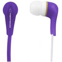 ESPERANZA Słuchawki douszne Stereo Lollipop EH146V fioletowy
