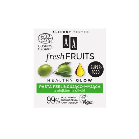 AA Fresh Fruits pasta peelingująco-myjąca z olejkiem z oliwki ORGANIC (3)