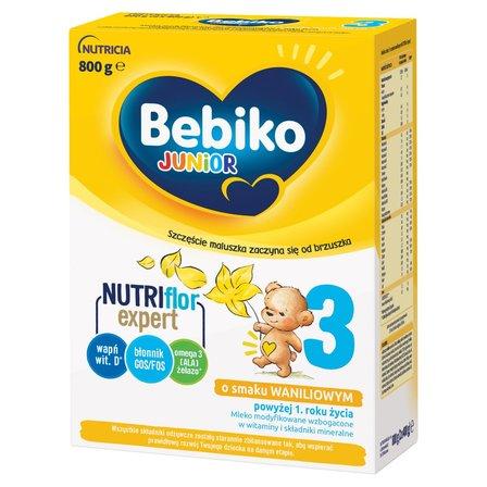 BEBIKO 3 Mleko modyfikowane dla dzieci powyżej 1. roku życia o smaku waniliowym (2 x 400 g) (1)