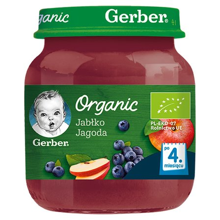 GERBER Organic Jabłko jagoda dla niemowląt po 4. miesiącu (1)