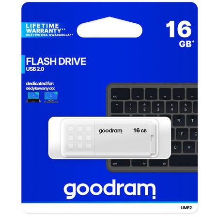 GOODRAM Pendrive 16GB USB 2.0 UME2 biały (2)