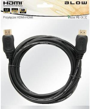 BLOW Kabel HDMI-HDMI 3M 92213 Zawieszka (1)