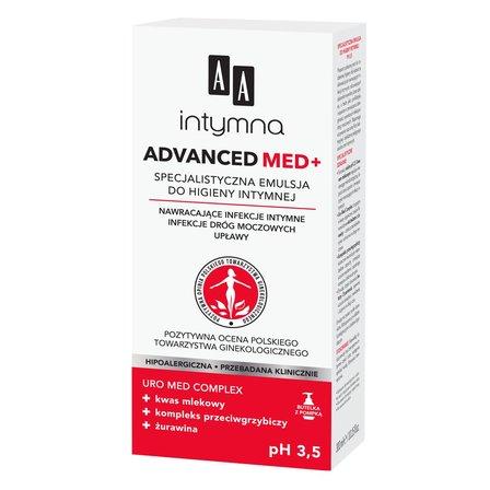 AA Intymna Advanced Med+ Specjalistyczna emulsja do higieny intymnej (1)
