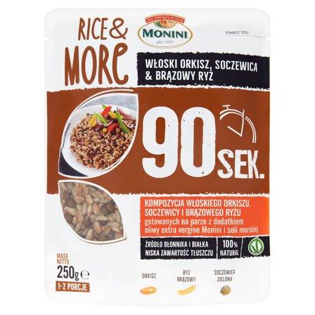 MONINI Rice & More Kompozycja włoskiego orkiszu soczewicy i brązowego ryżu (1)