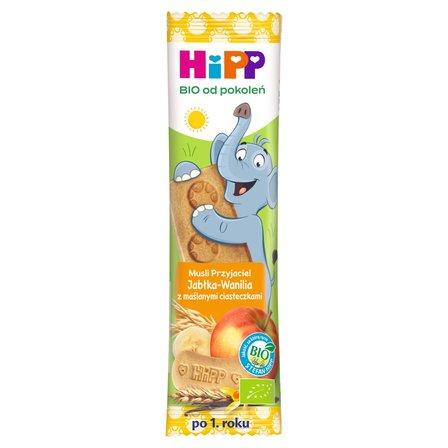 HiPP BIO Musli Przyjaciel Batonik po 1. roku jabłka-wanilia z maślanymi ciasteczkami (1)