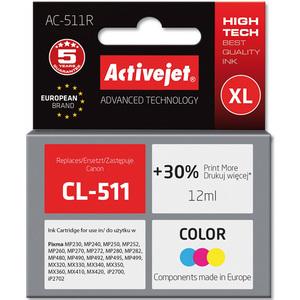 ACTIVEJET AC-511R Tusz do drukarki Canon zastępuje tusz Canon CL-511 kolorowy (1)