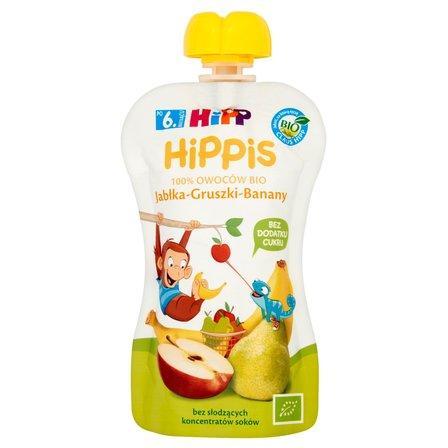 HiPP BIO HiPPiS Jabłka-Gruszki-Banany Mus owocowy po 6. m-cu (1)