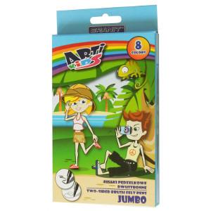 GRANIT Arti Kids Pisaki pędzelkowe dwustronne Jumbo (1)