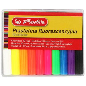 HERLITZ Plastelina fluorescencyjna 10 kolorów (1)