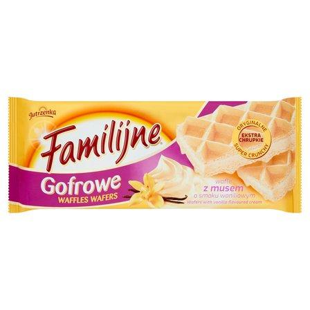 FAMILIJNE Gofrowe wafle z musem o smaku waniliowym (1)