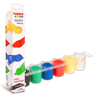 HAPPY COLOR Tempera Farby plakatowe 6 kolorów (1)
