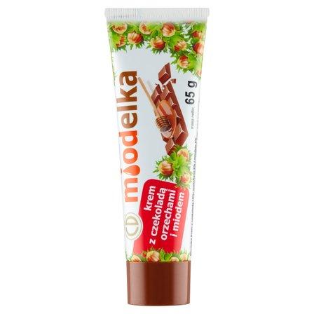 MIODELKA Krem z czekoladą orzechami i miodem (1)
