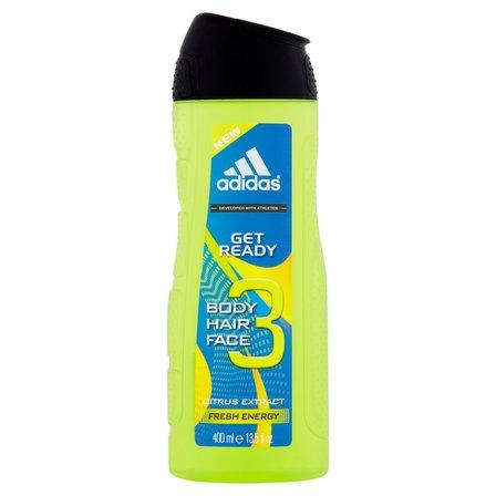 Adidas Get Ready 3 Żel pod prysznic do ciała włosów i twarzy dla mężczyzn (1)