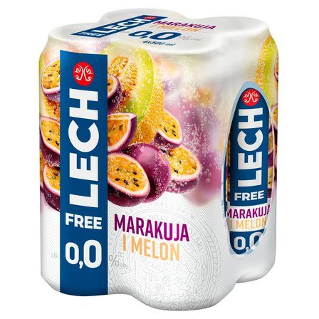 LECH Free Piwo bezalkoholowe marakuja i melon (4 x 500 ml) (1)
